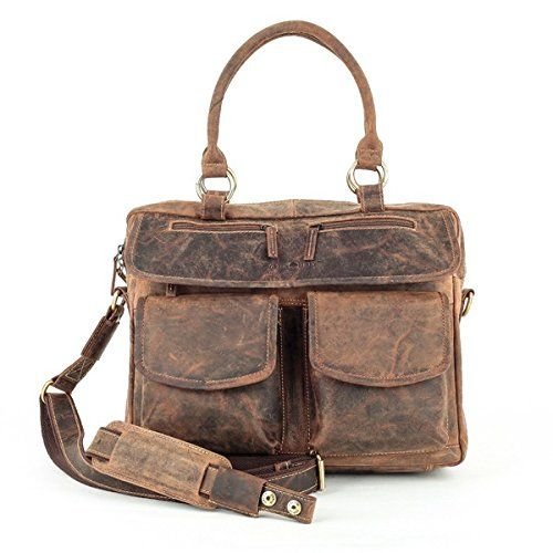 Vintage Handtasche Leder 40 cm Greenburry eI0xaNJ