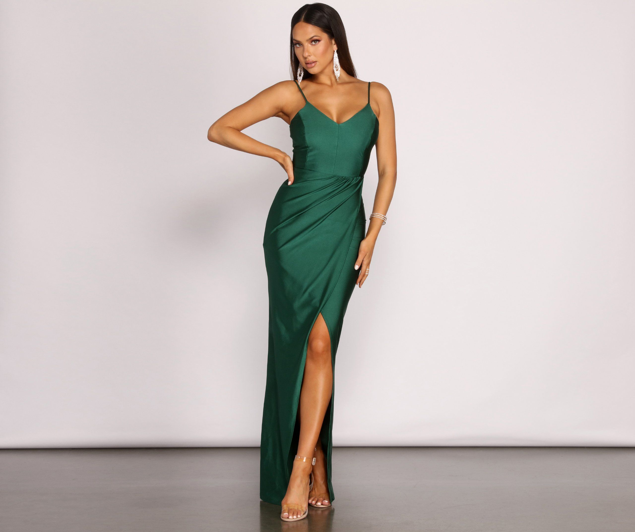 Nicki Formal Wrap Sleeveless Dress In 2021 Green Formal Dresses Lattice Dress Dresses [ 2145 x 2560 Pixel ]
