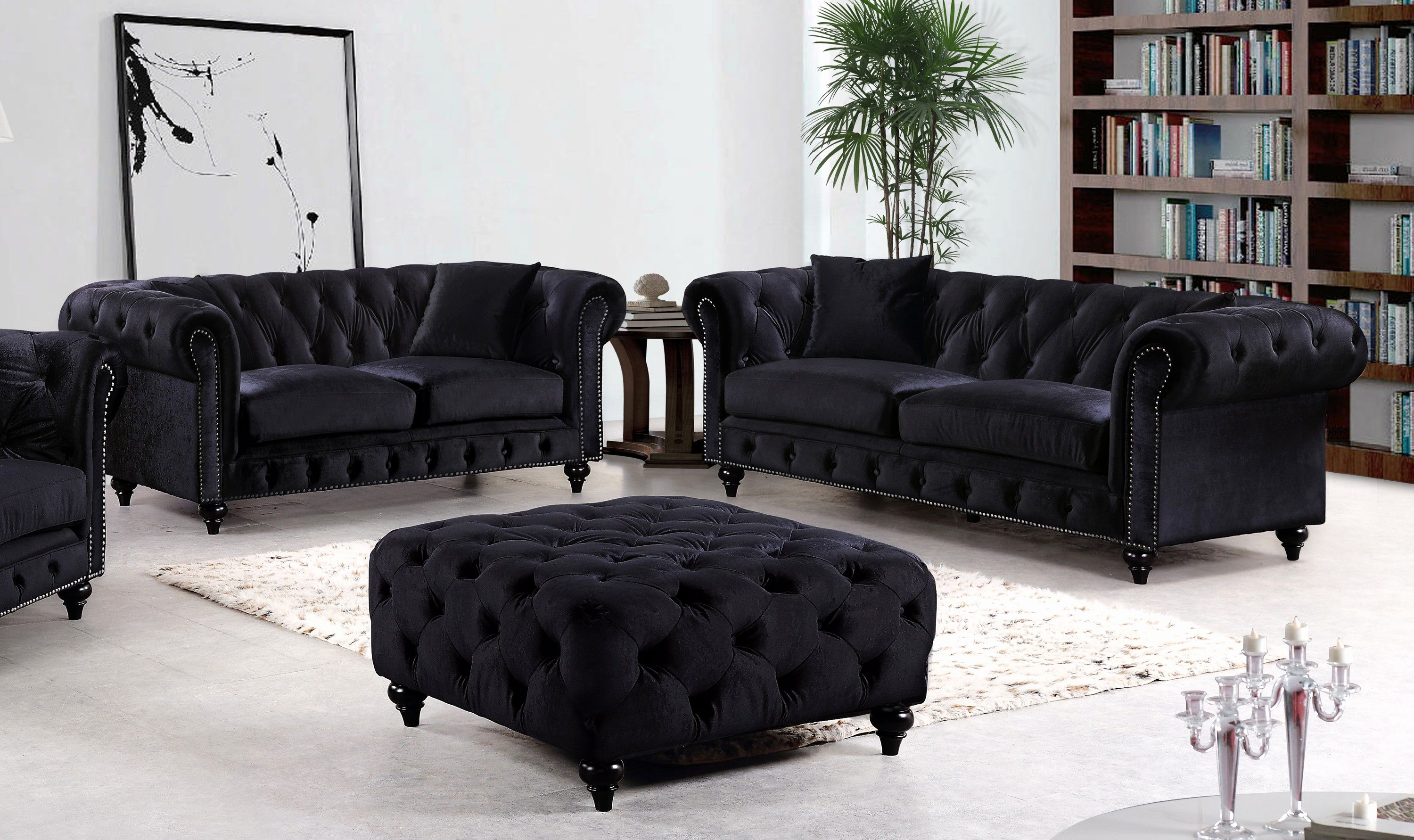 Ideas Black Velvet Sofas Pics Elegant Best Sofa Set 13 In Contemporary Inspiration With