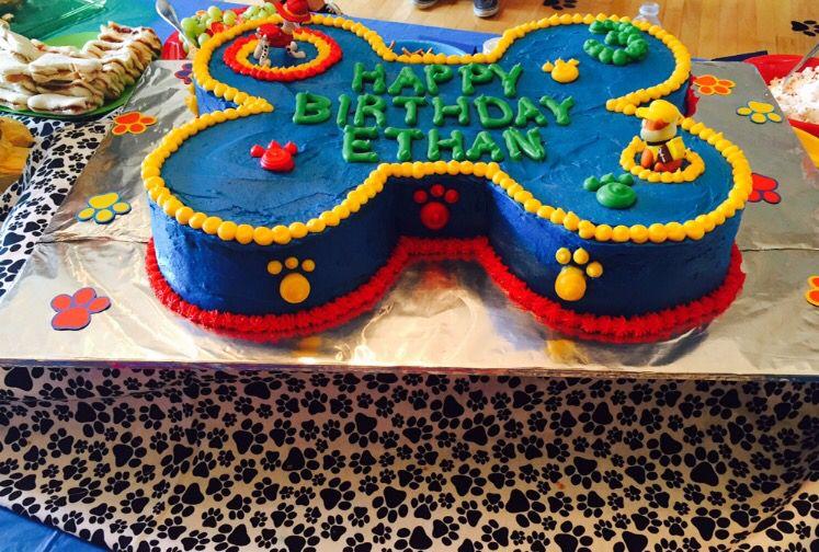 Wondrous Paw Patrol Birthday Cake For 3 Year Olds Dog Bone Cake Paw Funny Birthday Cards Online Overcheapnameinfo