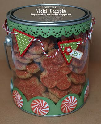Filled with Christmas cookies