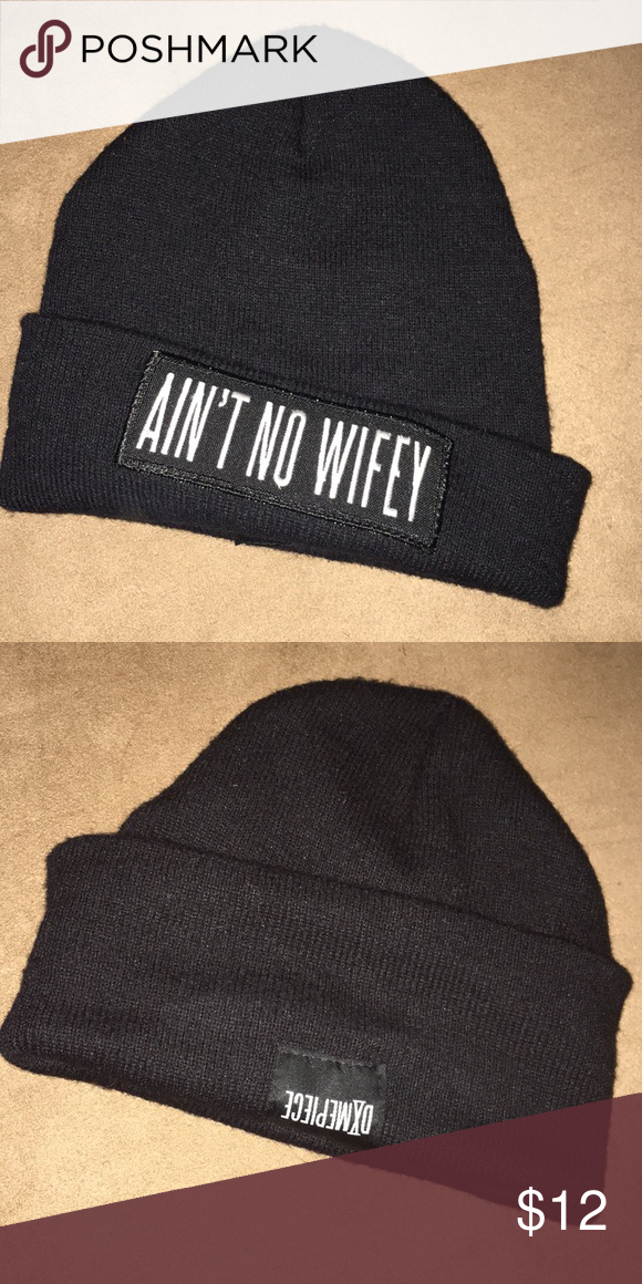 """effd60fef828c DIMEPIECE AIN T NO WIFEY BEANIE Authentic DIMEPIECE """"AINT T NO WIFEY"""" beanie.  GUC no pilling. Feel free to ask any questions Accessories Hats"""