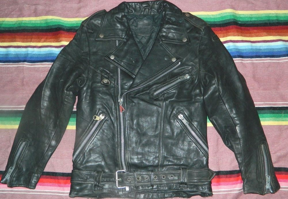 VTG HEIN GERICKE BIKER RACER MOTORCYCLE LEATHER JACKET
