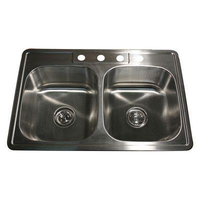 nantucket sinks madaket 33   x 22   50 50 double bowl stainless steel kitchen nantucket sinks madaket 33   x 22   50 50 double bowl stainless      rh   pinterest com