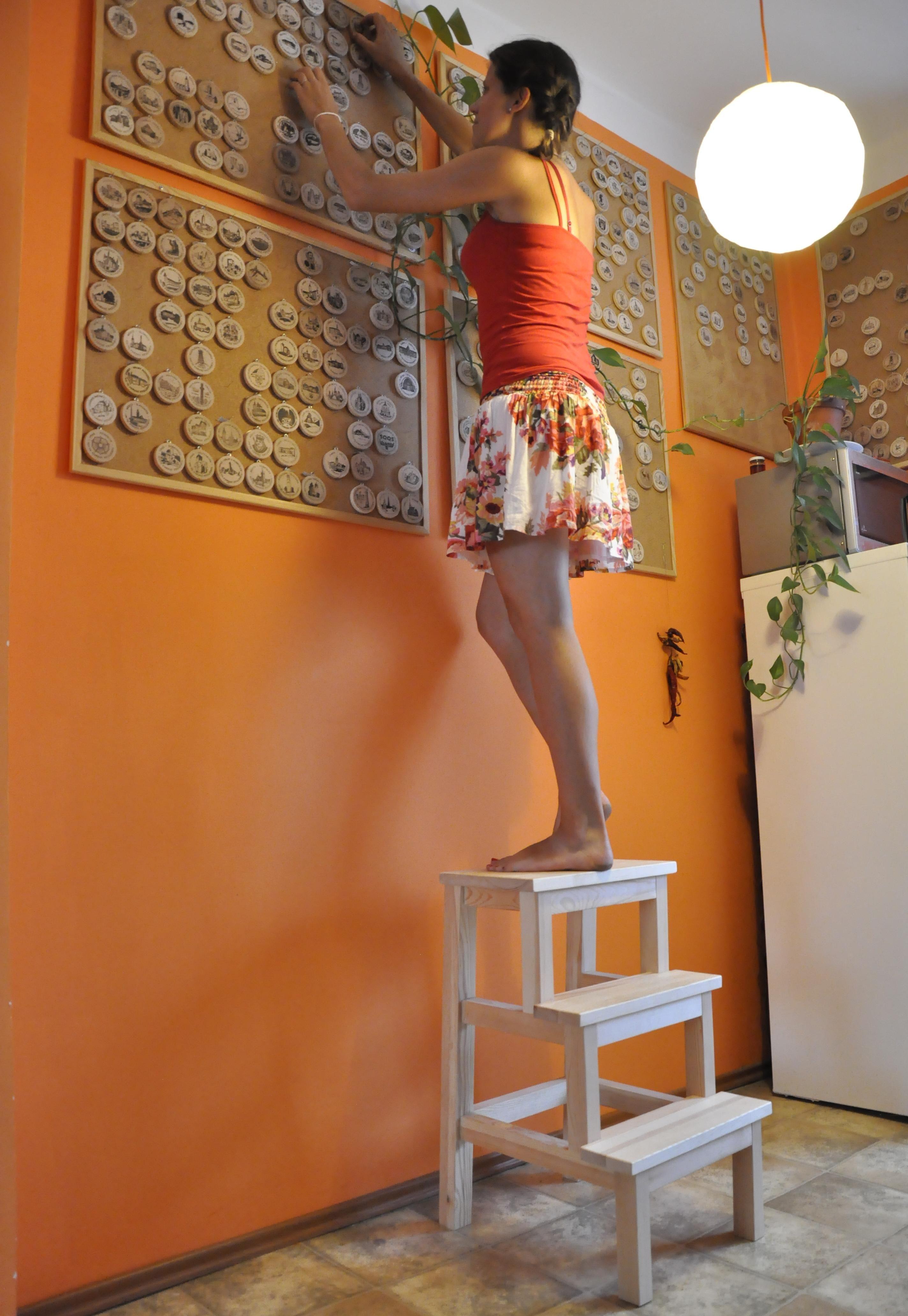 Wooden step ladder Dřevěné schůdky