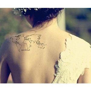 Tasteful tattoos world map wedding tattoos pinterest map tasteful tattoos world map wedding gumiabroncs Images