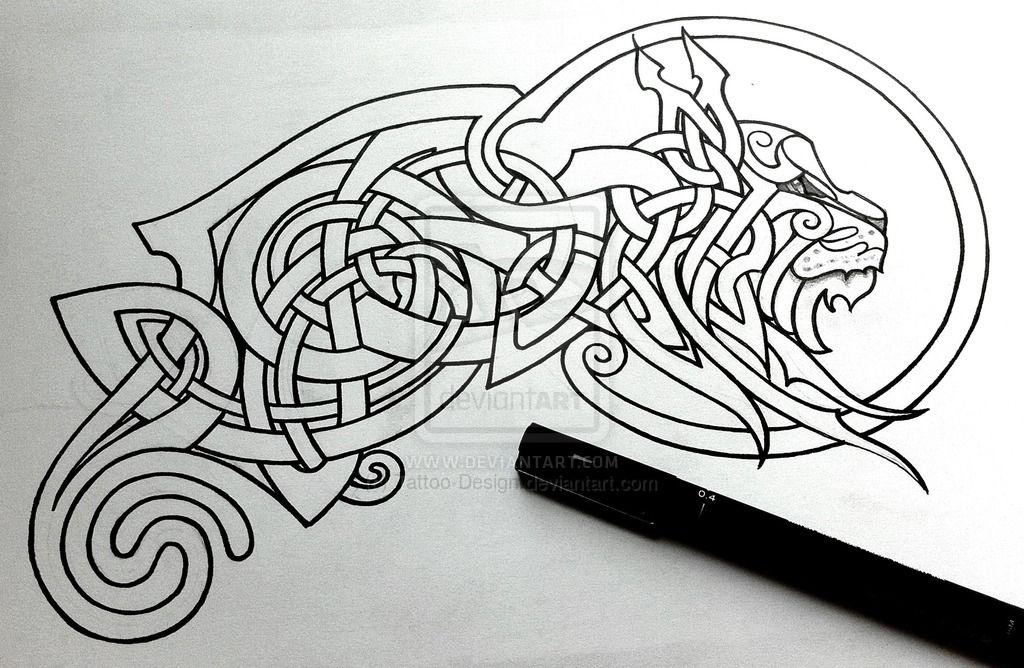 dc6ac8ce368d9 Celtic Lynx linework by Tattoo-Design on DeviantArt | Ink | Celtic ...