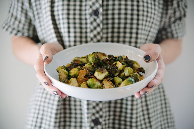 ROASTED BRUSSEL SPROUTS WITH SWEET CHILI - BLEUBIRD