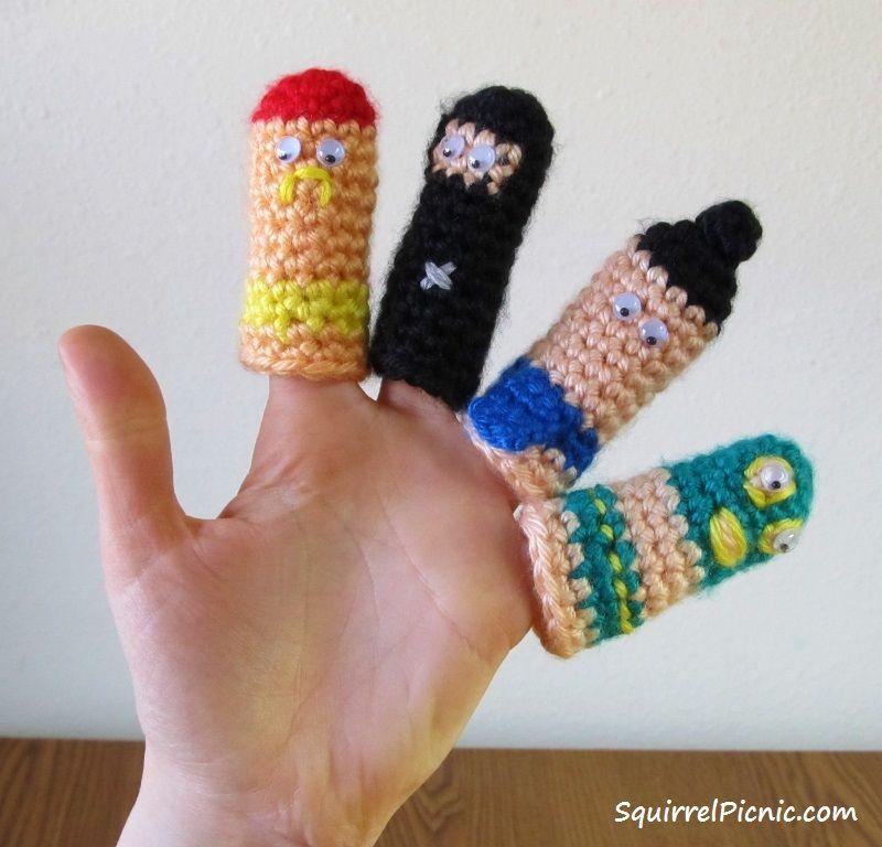 Squirrel Picnic: Thumb Wrestlers - free crochet pattern by Jennifer ...
