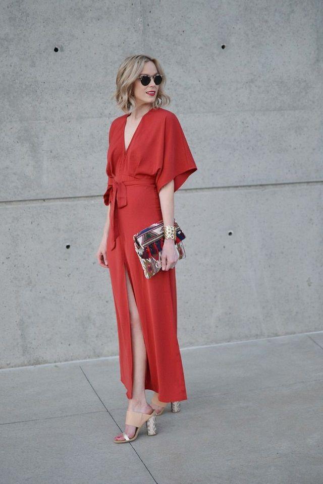 vestido invitada boda kimono dress look style | Fashion | Pinterest ...