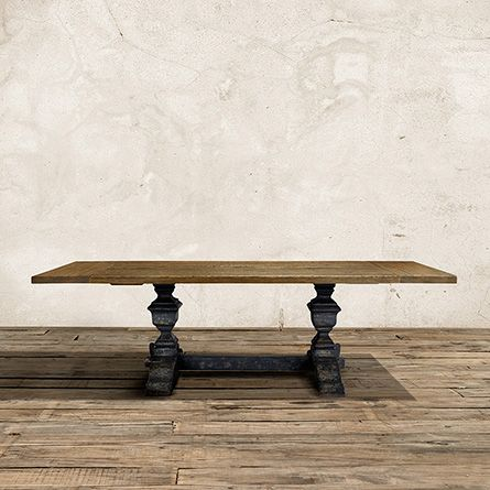 "Wilhelm 72"" Natural Extension Dining Table With Grey Base"