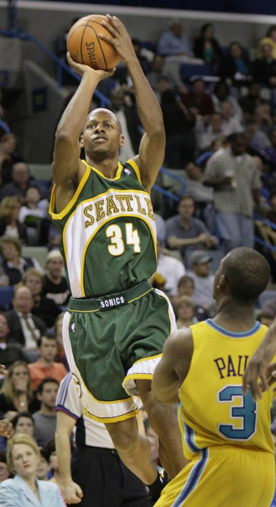 Ray Allen Back In His Supersonic Days Seattle Sports Basketball Is Life Nba Legends