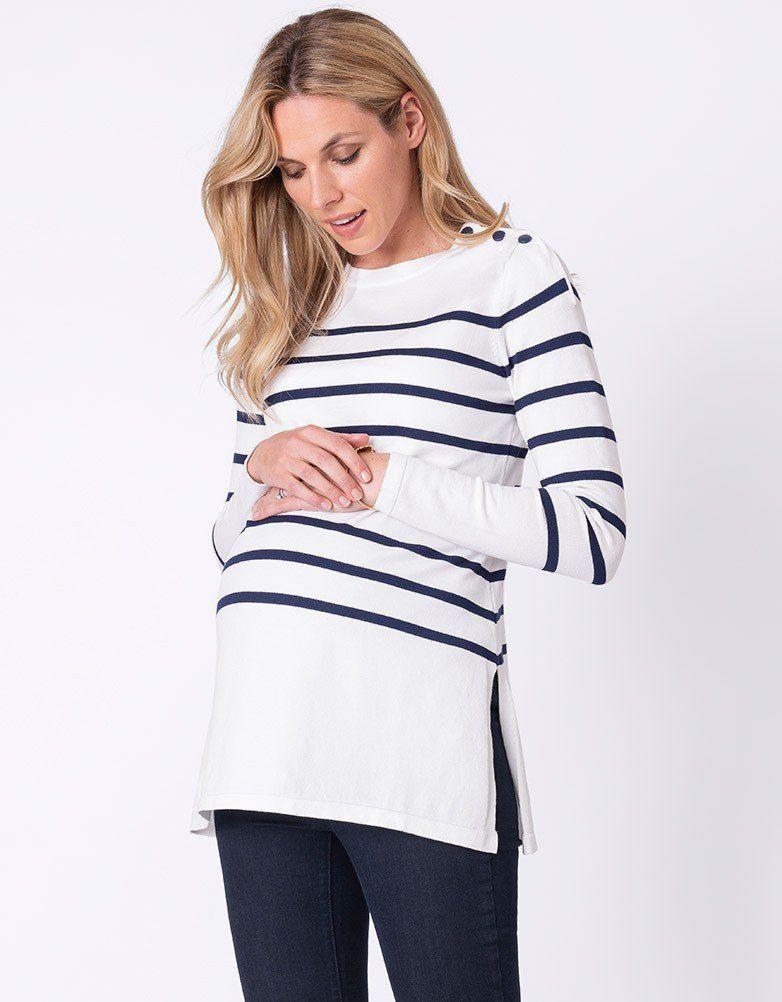 Nautical Maternity & Nursing Sweater