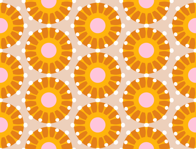 stoff von fummelhummel auf anatomie neurozellen zellen retro bunt orange rosa grau. Black Bedroom Furniture Sets. Home Design Ideas