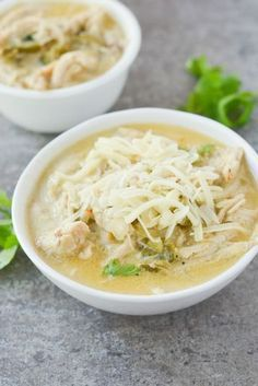 Keto White Chicken Chili #ketodinnerrecipes