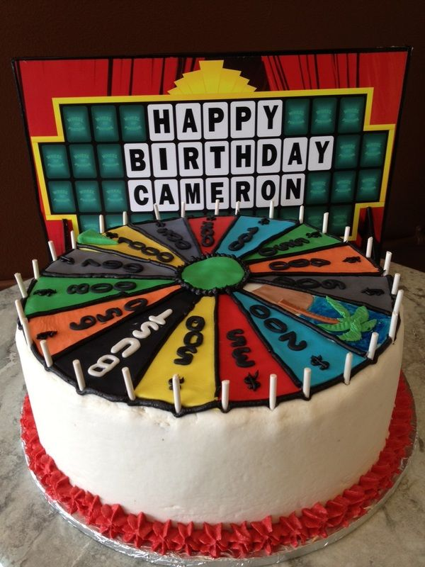 Wheel Of Fortune Cakes And More Cakes 60th Birthday