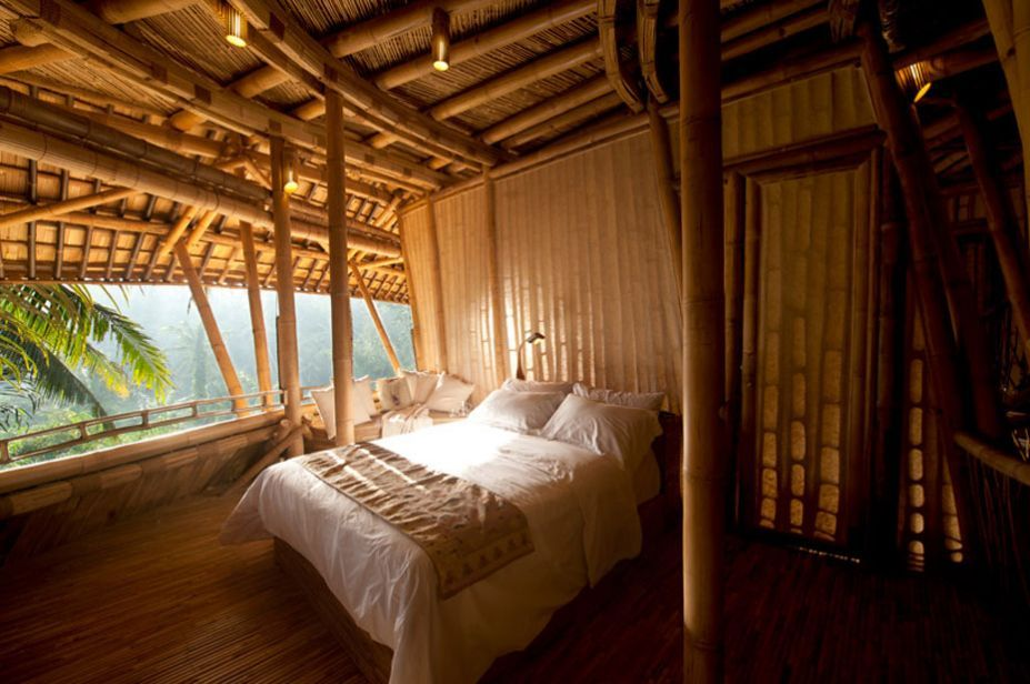 Hotels resorts beautiful bamboo houses in green village for Main bedroom designs pictures