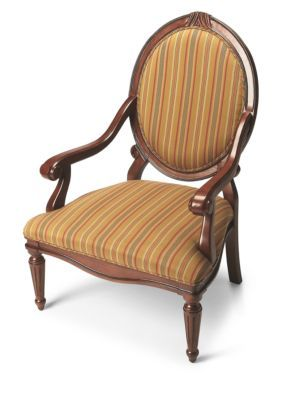 Butler Specialty Company Dark Brown Rookwood Plantation Cherry Accent Chair
