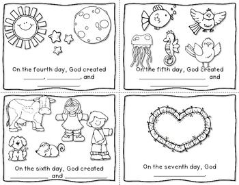 Creation coloring pages booklet ~ The Creation Story Mini Book {FREEBIE}   Creation bible ...