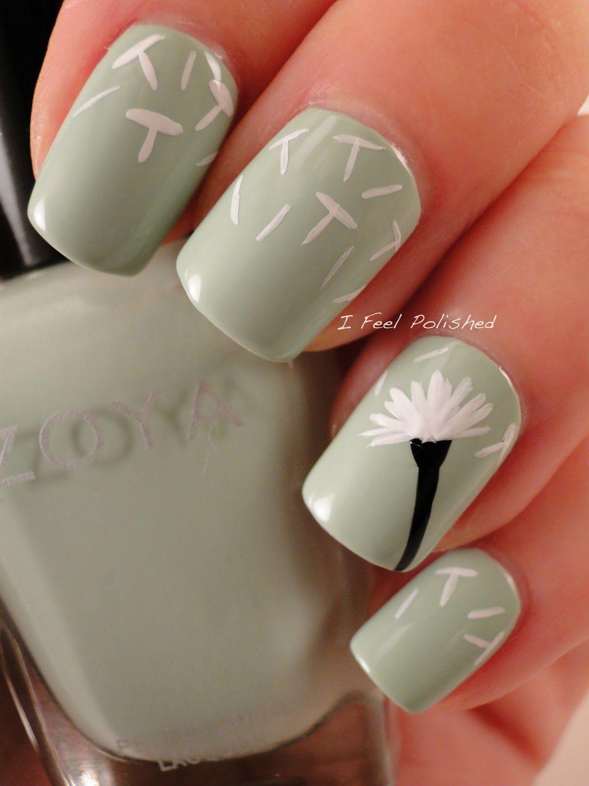 Dandelion Manicure | Nails | Pinterest | Dandelions, Manicure and Pedi
