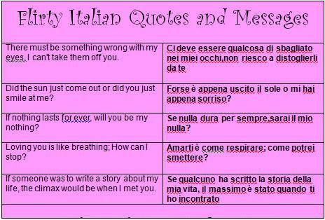 flirty words in italian