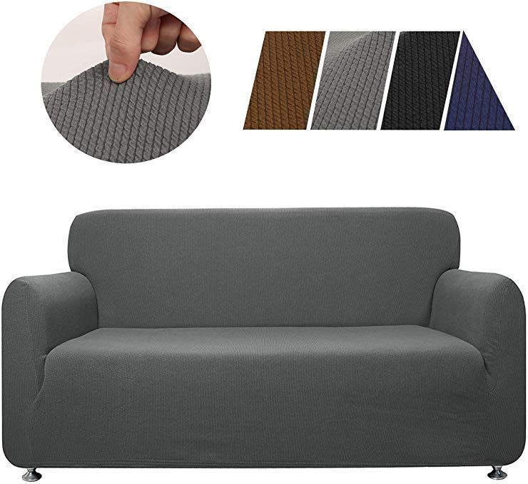 Haocoo Sofa Cover Striped Stretch 3 Seater Couch Covers Polyester Spandex Fabric Soft Slipcover Furniture Protector For 3 Slipcovers Couch Covers Sofa Covers