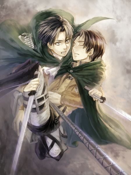 Levi and Eren || http://www.pixiv.com/users/6721347 [please do not remove this caption with the source]