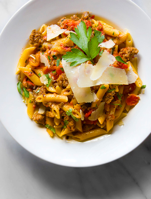 Can't wait to make this penne pasta with bolognese sauce for the family. This easy recipe will be a hit with everyone.