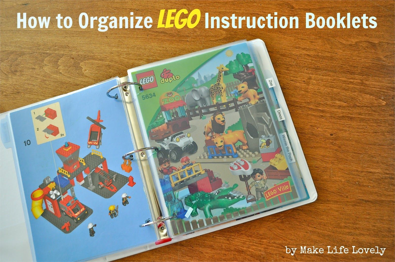 How To Organize Lego Instruction Booklets Lego Instructions