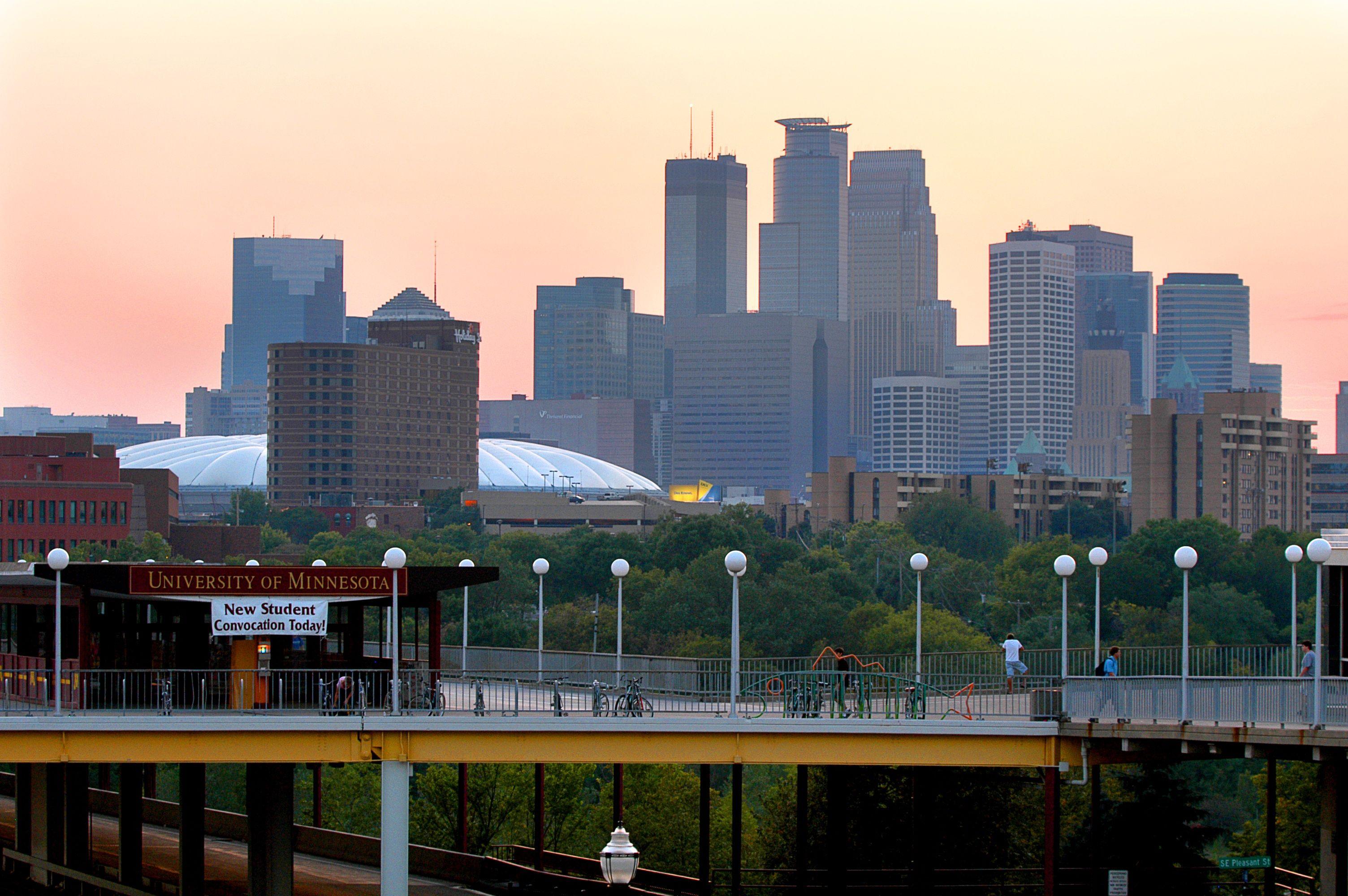 Minneapolis Skyline Campus View Minneapolis Skyline Pretty