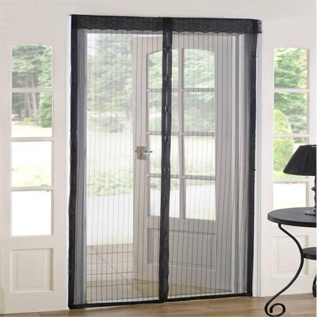 As Seen On Tv Magnetic Mesh Screen Door Magnetic Mesh Door Black