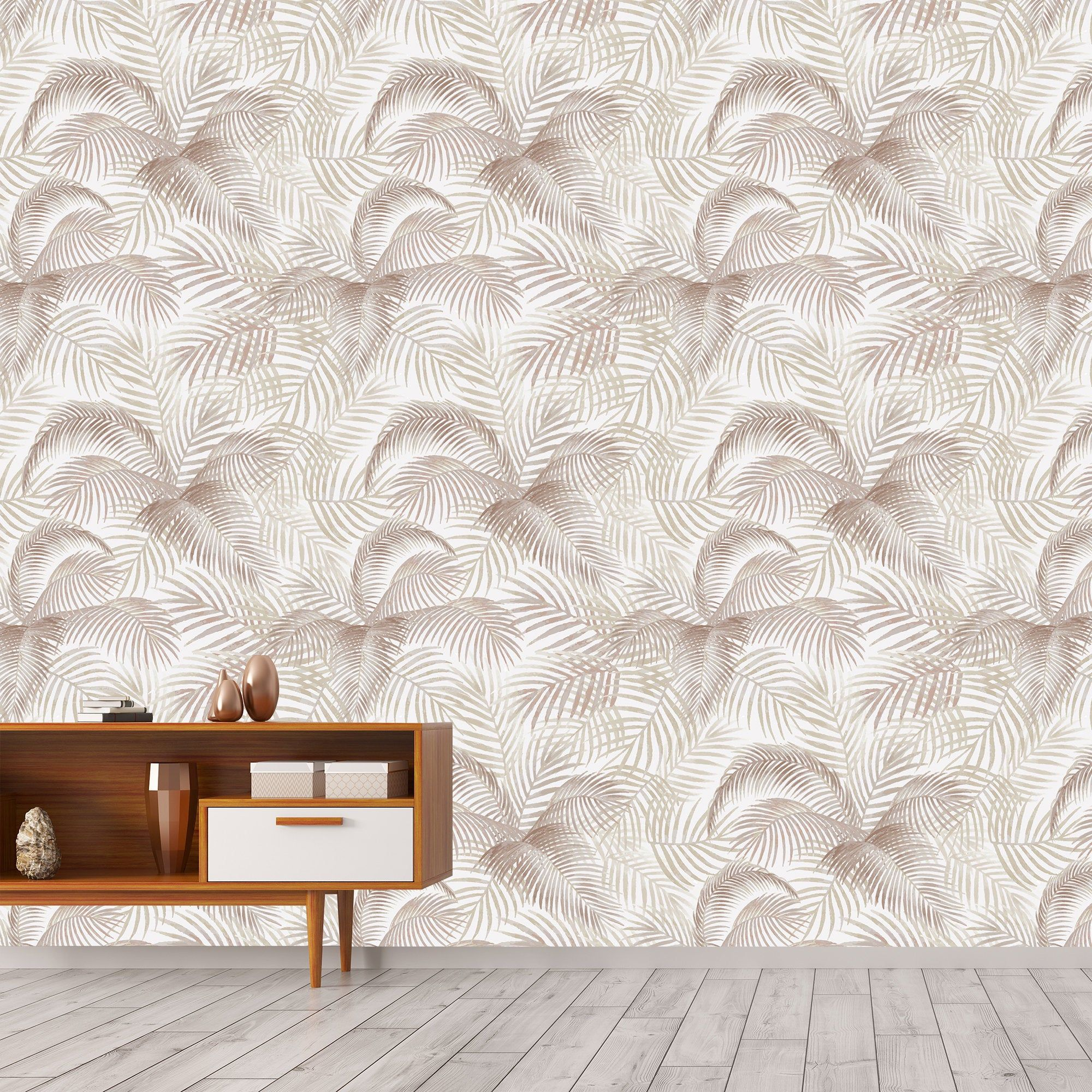 Palm Leaf Wallpaper Removable Wallpaper Brown Leaf Wall Etsy Removable Wallpaper Leaf Wallpaper Palm Leaf Wallpaper