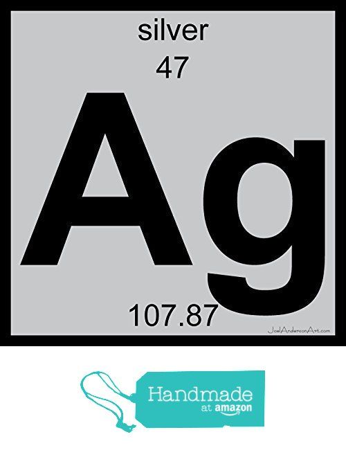 Ag Silver Art Tile Print Of Periodic Table Elements From Joel