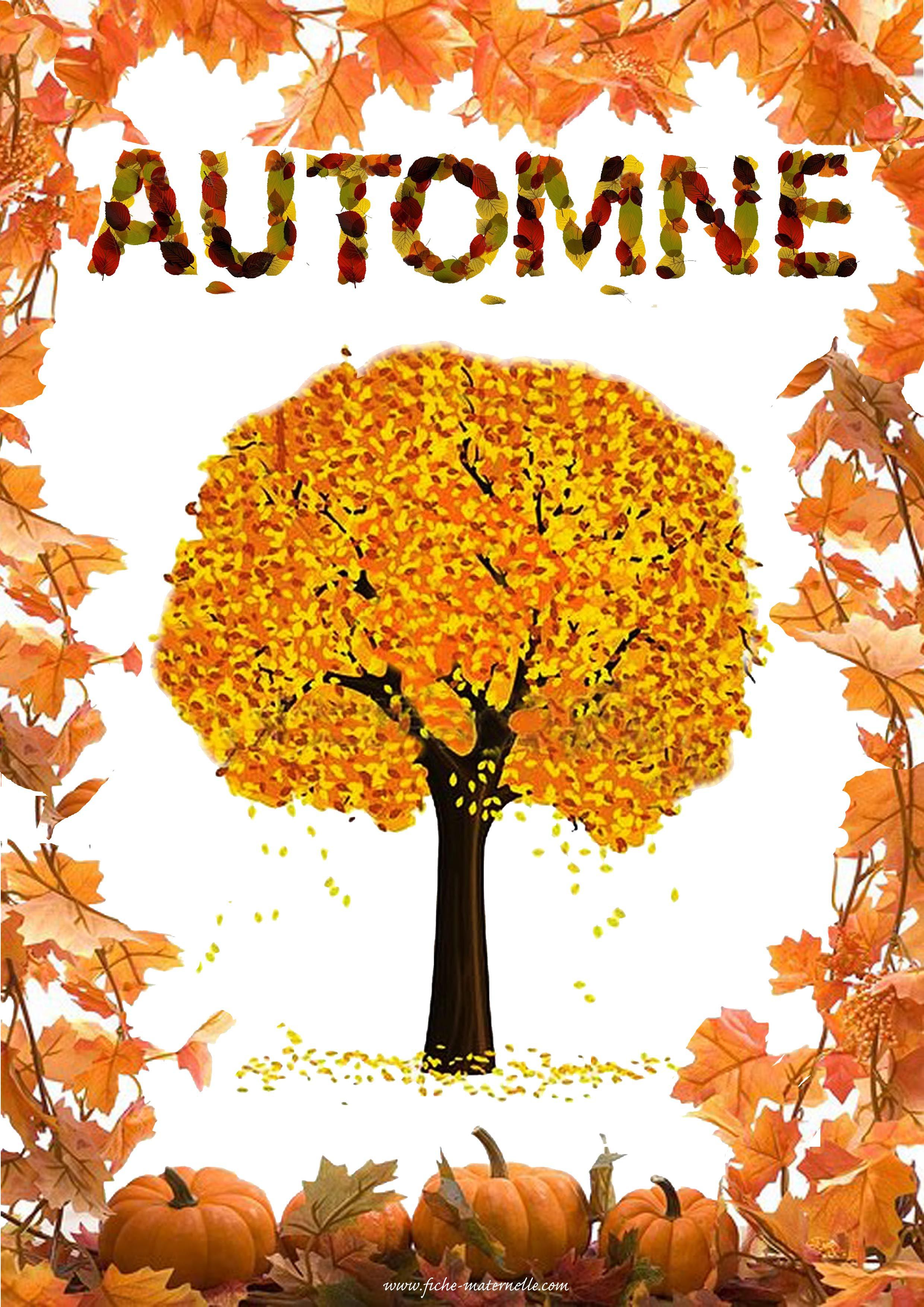 Affiche de l automne les saisons pinterest automne for Le jardin des 4 saisons pusignan