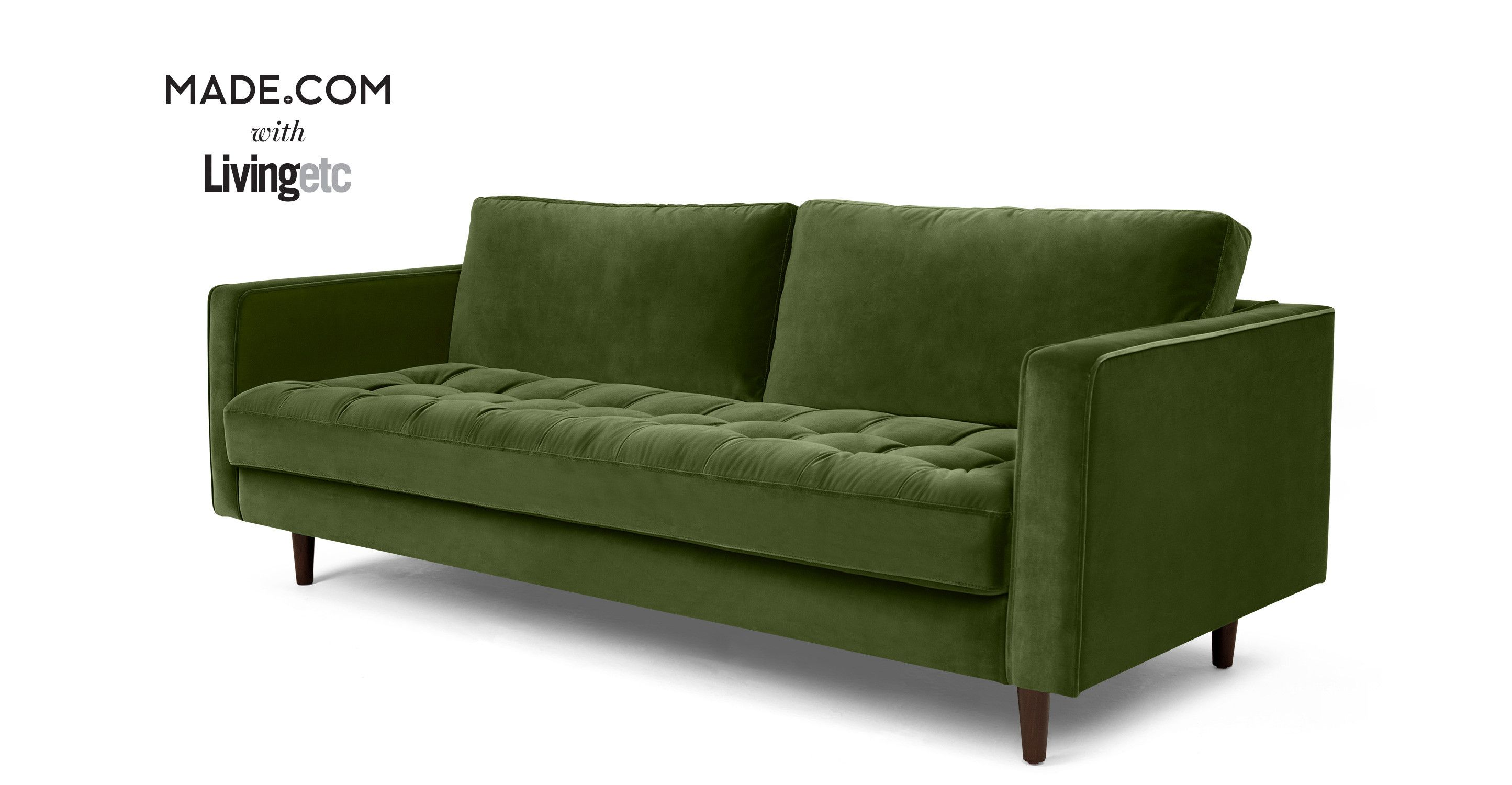 Made Sofa Velvet Made Grass Cotton Velvet Sofa Living Dining Green