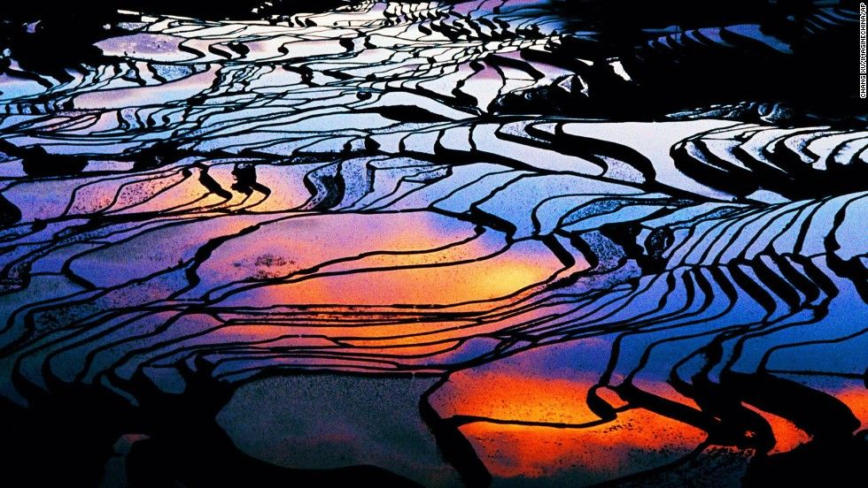 Terraced rice fields, Yuanyang County, China. World's most colorful landscapes - CNN.com