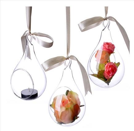 Free shipping fashion candelabrum candlestick shaped transparent glass flower vase home accessories creative decoration