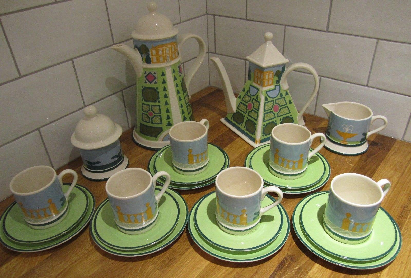 Carlton Ware Re 1978 22 Pcs Tea Coffee Set Roger Mic Danka Napiorkowska