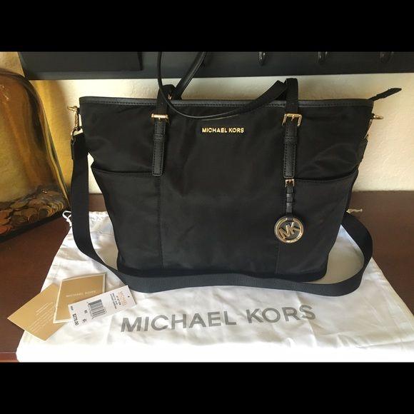 c1b803a046953b Michael Kors Jet Set Black Nylon Diaper Bag Tote Perfect condition,  basically brand new,