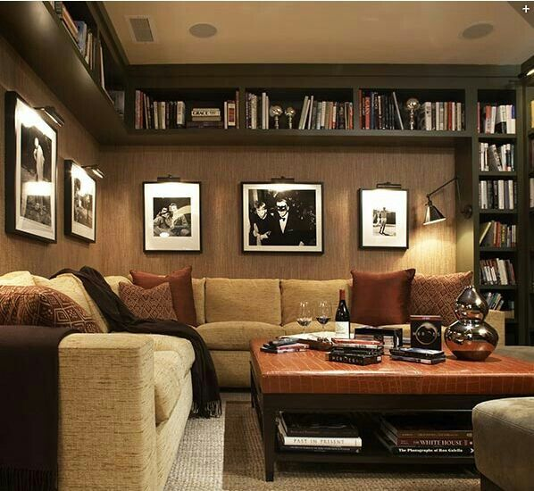 Cool Things To Put In A Basement: Great Bookshelves Idea