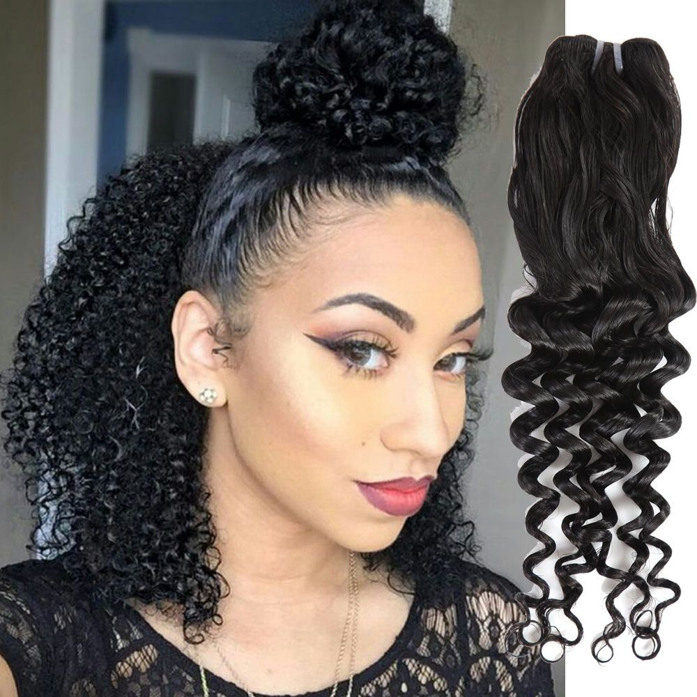 8 32 50gpcs Loose Curly Straight Real Human Hair Extension Raw