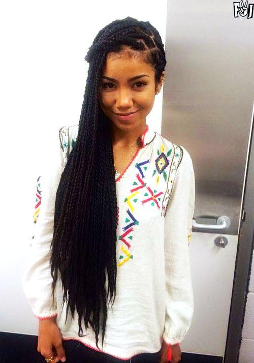 Box braids on Jhene Aiko