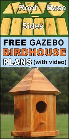 Bird House Plans – Gazebo Nesting Box for Bluebirds & Wrens