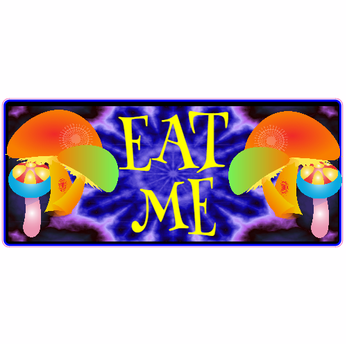 Get This Eat Me Mushroom Sticker Online At The US Custom - Order stickers online cheap