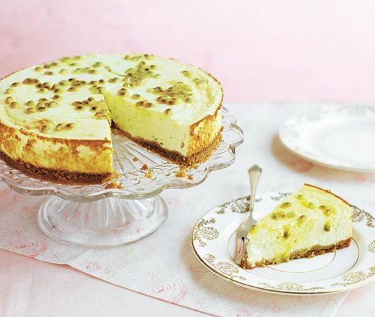 Passion fruit & lemon baked cheese cake | ASDA Recipes