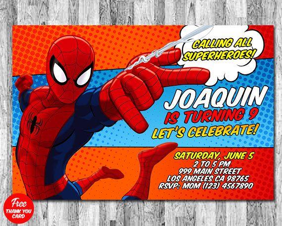 invitaciones de spiderman para editar crea invitaciones de spiderman online