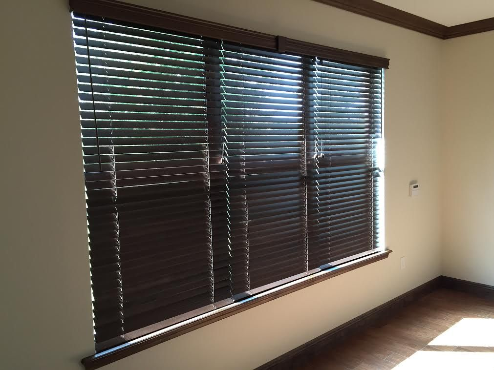 Multiple Blinds On One Headrail Stained And Crafted Of North