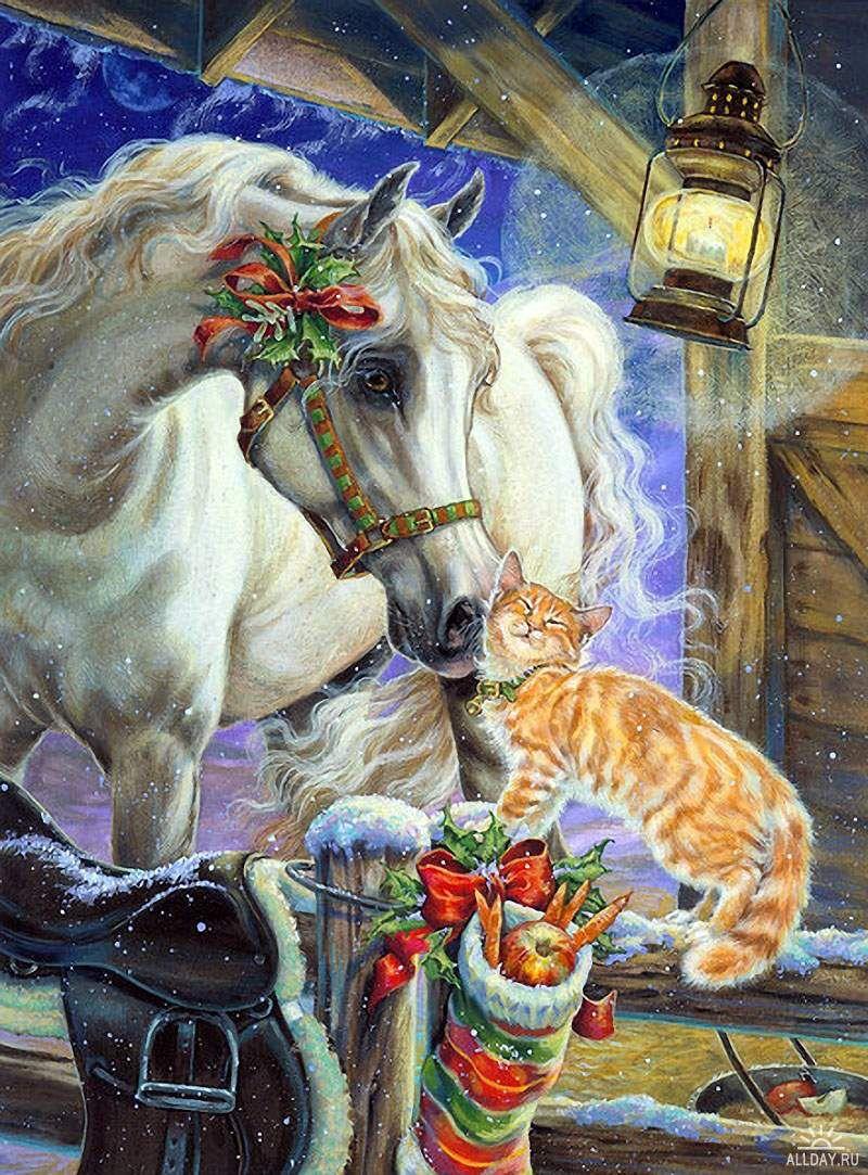 Лошади открытки с новым годом, выходом пенсию женщине