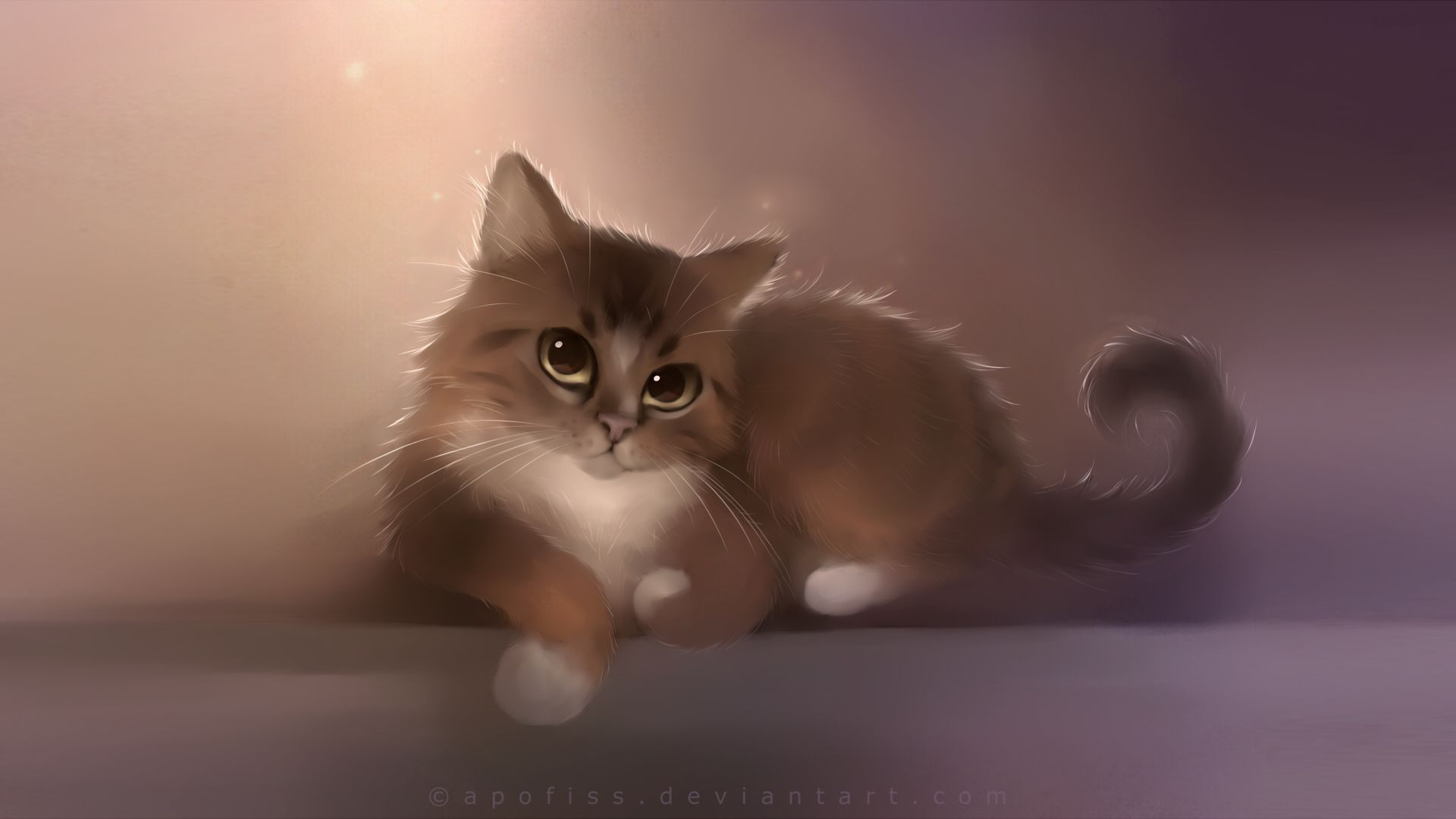 Sittin Pretty Cute Animal Illustration Cat Painting Cat Art