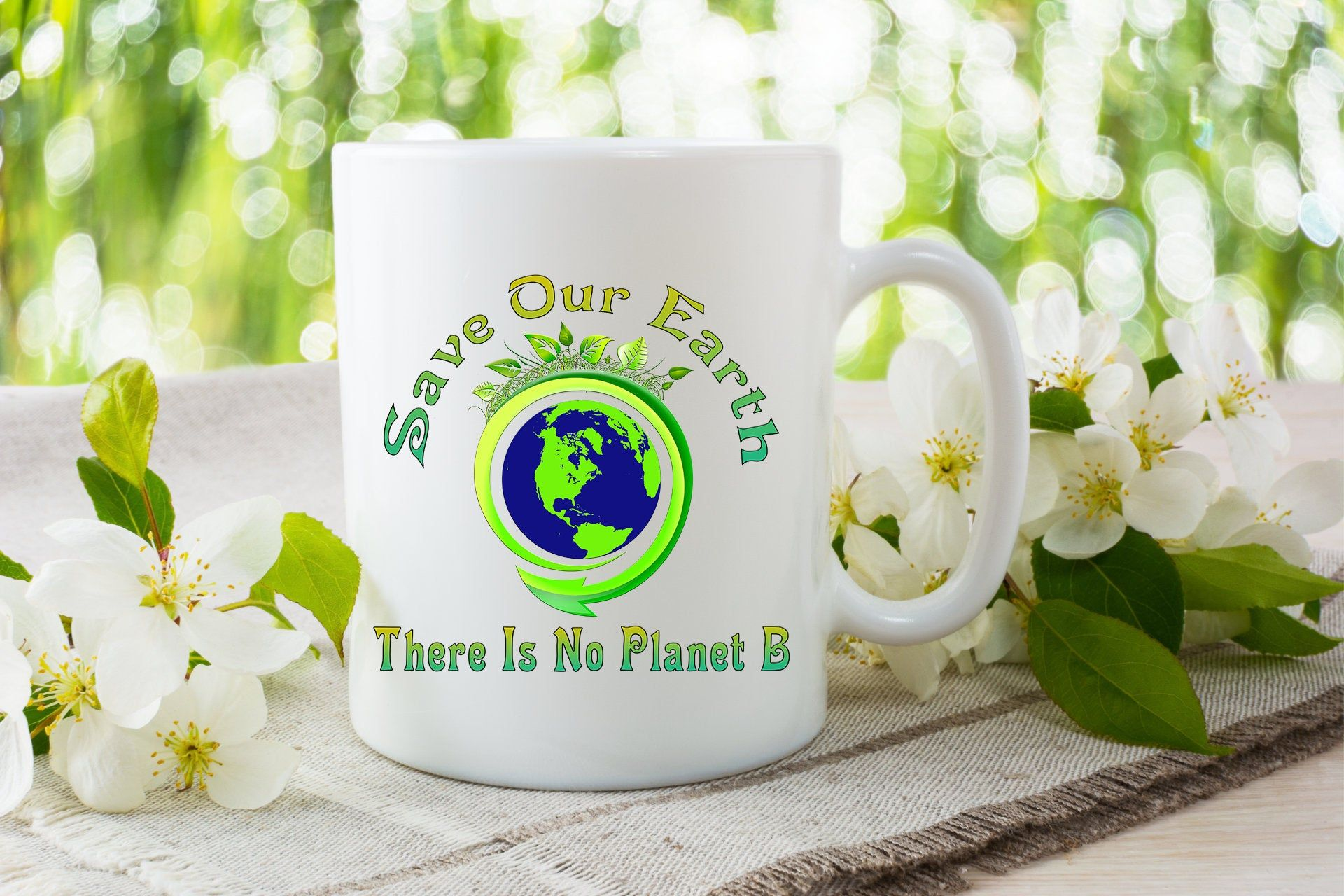 Save Our Earth There Is No Planet B Coffee Mug Earth Day Etsy Green Mugs Save Our Earth Go Green